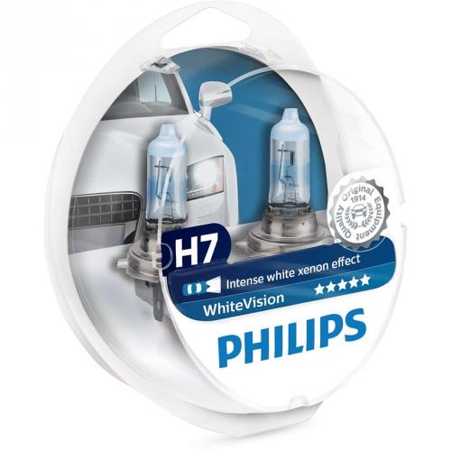 Autožárovka Philips WhiteVision H7, 2ks (12972WHVSM)