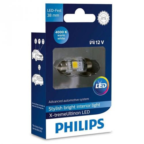 Autožárovka Philips X-tremeUltinon LED C5W, 38mm, 4000K, 1ks (128584000KX1)