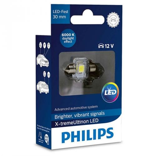 Autožárovka Philips X-tremeUltinon LED C5W, 30mm, 6000K, 1ks (129416000KX1)