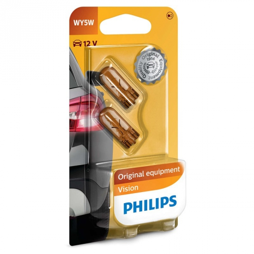 Autožárovka Philips Vision WY5W, 2ks (12396NAB2)