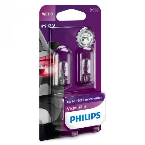 Autožárovka Philips VisionPlus WBT10, 2ks (12040VPB2)