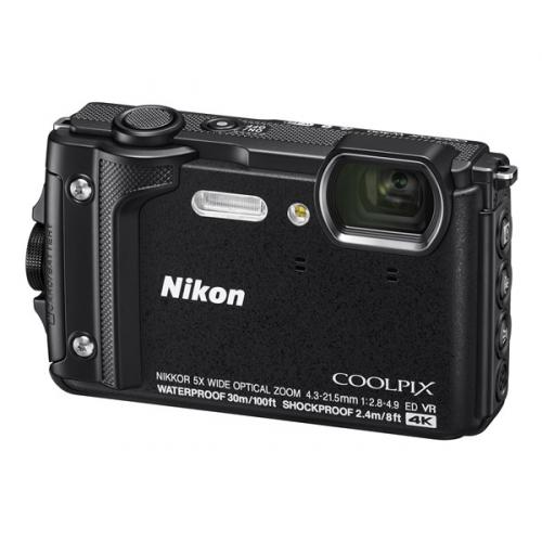Digitální fotoaparát Nikon Coolpix W300 + 2 v 1 plovoucí popruh černý