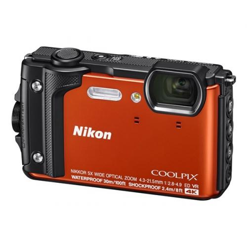 Digitální fotoaparát Nikon Coolpix W300 + 2 v 1 plovoucí popruh oranžový