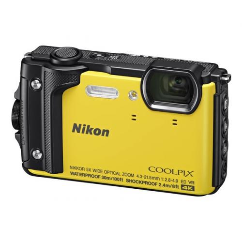 Digitální fotoaparát Nikon Coolpix W300 + 2 v 1 plovoucí popruh žlutý