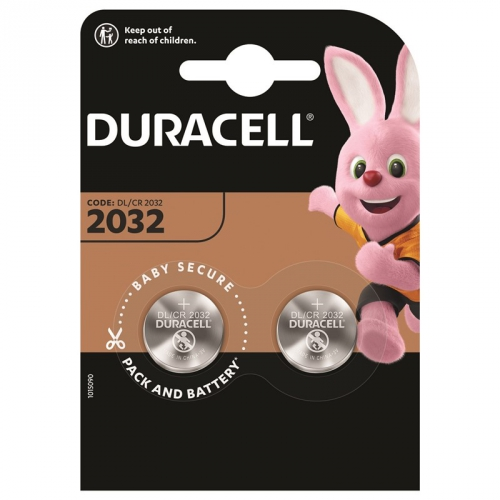 Baterie lithiová Duracell CR2032, 3V, blistr 2ks