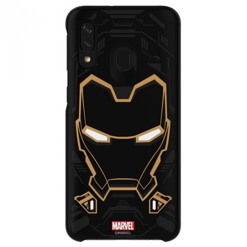 Kryt na mobil Samsung Smart Cover Iron Man pro Galaxy A40 černý