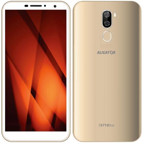 Mobilní telefon Aligator S5710 zlatý