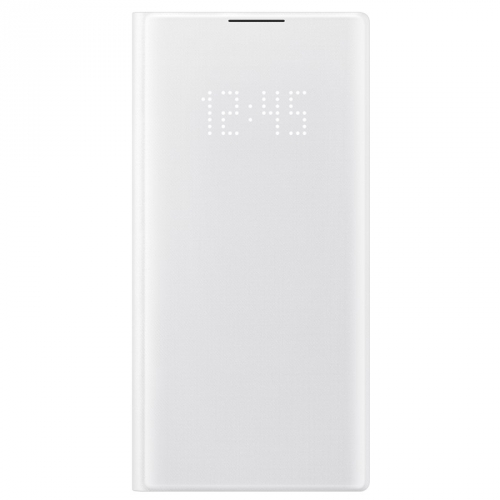 Pouzdro na mobil flipové Samsung LED View pro Galaxy Note10 bílé
