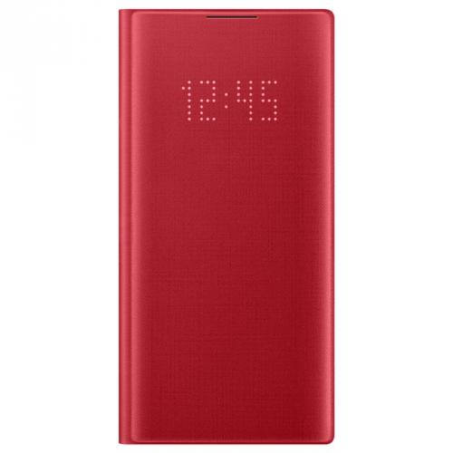 Pouzdro na mobil flipové Samsung LED View pro Galaxy Note10 červené