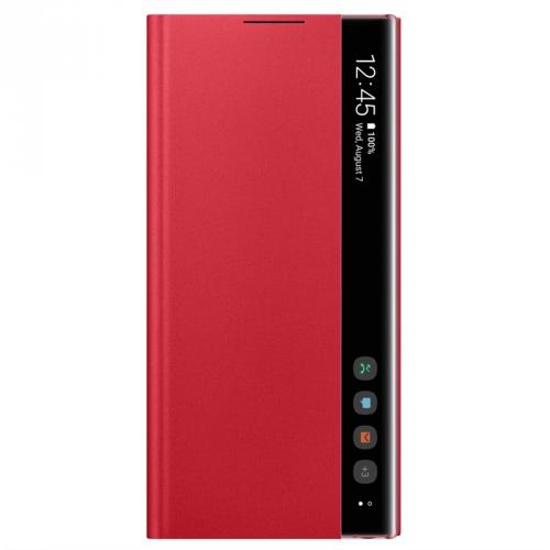 Pouzdro na mobil flipové Samsung Clear View pro Galaxy Note10 červené