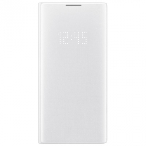Pouzdro na mobil flipové Samsung LED View pro Galaxy Note10+ bílé