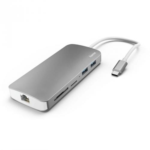 Dokovací stanice Hama USB-C/2x USB, HDMI, LAN, SD, Micro SD