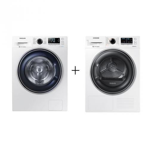 Set (Sušička prádla Samsung DV80M52102W/LE) + (Pračka Samsung WW80J5446FW/ZE)