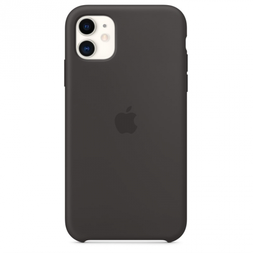 Kryt na mobil Apple Silicone Case pro iPhone 11 černý