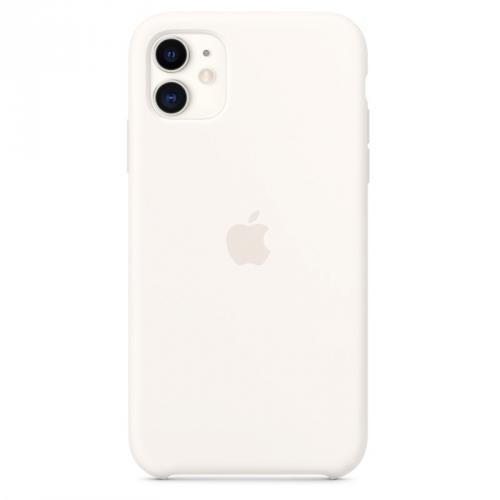 Kryt na mobil Apple Silicone Case pro iPhone 11 bílý