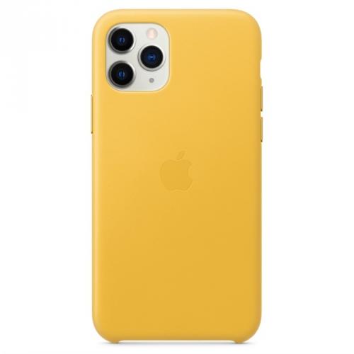 Kryt na mobil Apple Leather Case pro iPhone 11 Pro - hřejivě žlutý