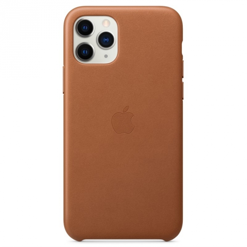 Kryt na mobil Apple Leather Case pro iPhone 11 Pro - sedlově hnědý