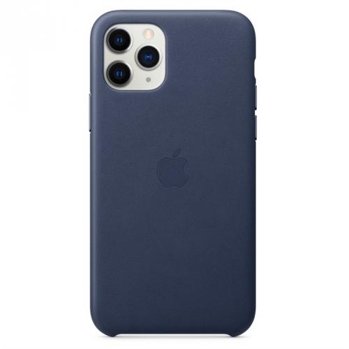 Kryt na mobil Apple Leather Case pro iPhone 11 Pro - půlnočně modrý