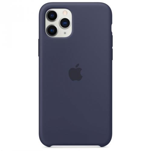 Kryt na mobil Apple Silicone Case pro iPhone 11 Pro - půlnočně modrý