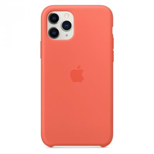 Kryt na mobil Apple Silicone Case pro iPhone 11 Pro - mandarinkový (oranžový)
