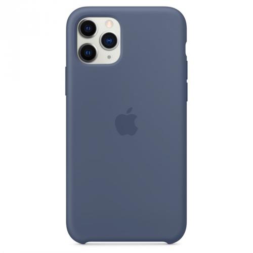 Kryt na mobil Apple Silicone Case pro iPhone 11 Pro - seversky modrý