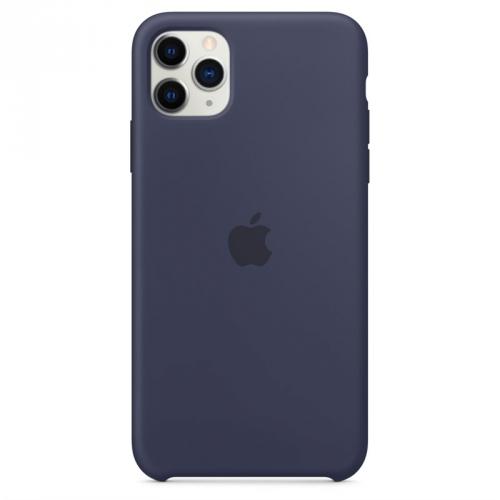 Kryt na mobil Apple Silicone Case pro iPhone 11 Pro Max - půlnočně modrý