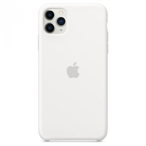 Kryt na mobil Apple Silicone Case pro iPhone 11 Pro Max bílý