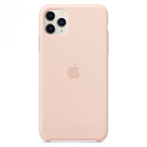 Kryt na mobil Apple Silicone Case pro iPhone 11 Pro Max - pískově růžový