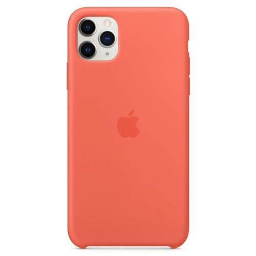 Kryt na mobil Apple Silicone Case pro iPhone 11 Pro Max - mandarinkový (oranžový)