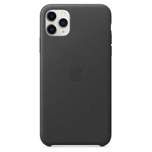 Kryt na mobil Apple Leather Case pro iPhone 11 Pro Max černý