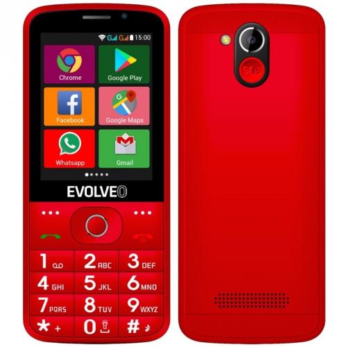 Mobilní telefon Evolveo EasyPhone AD červený