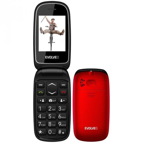 Mobilní telefon Evolveo EasyPhone FD červený