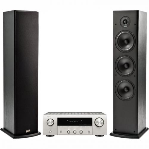 Set (2x Reproduktory Polk T50 sloupový, 1 ks) + (AV Receiver Denon DRA-800H Premium)