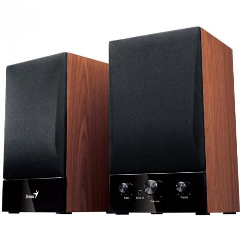 Reproduktory Genius SP-HF 1250B 2.0, Verze II. černé/imitace dřeva