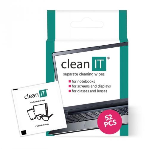 Clean IT vlhčené, 52 ks