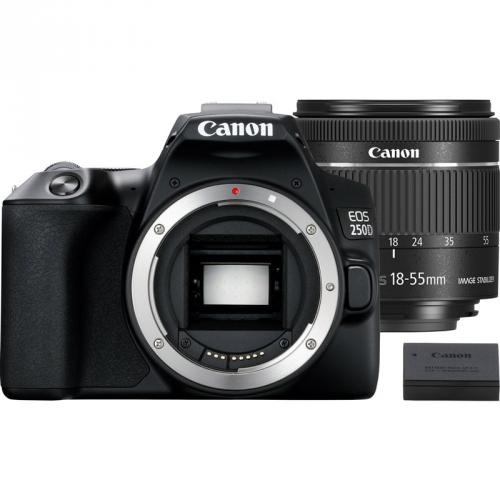 Digitální fotoaparát Canon EOS 250D + 18-55 IS STM + akumulátor LP-E17 černý + dárek