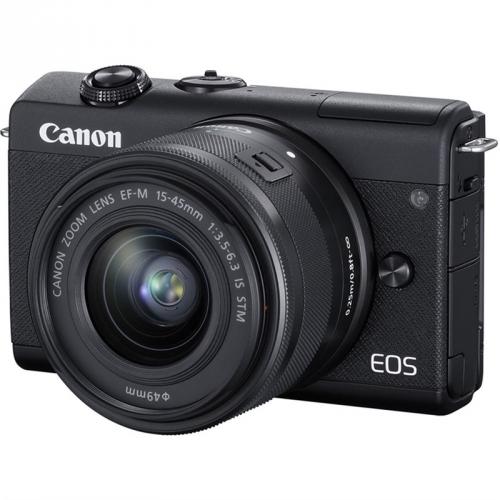 Digitální fotoaparát Canon EOS M200 + EF-M 15-45 IS STM černý