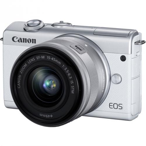 Digitální fotoaparát Canon EOS M200 + EF-M 15-45 IS STM bílý + DOPRAVA ZDARMA
