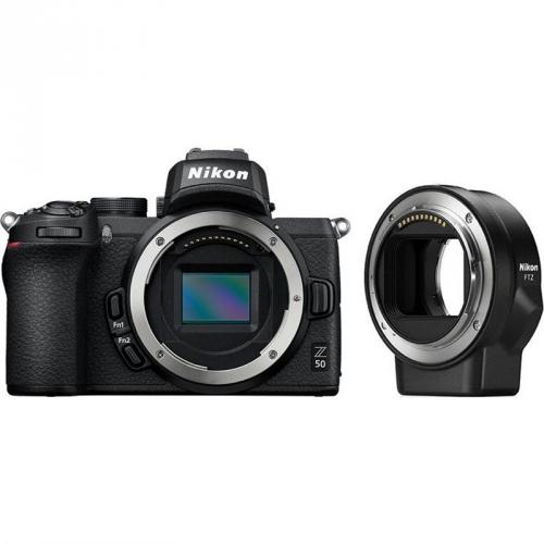 Digitální fotoaparát Nikon Z50 + adaptér bajonetu FTZ černý