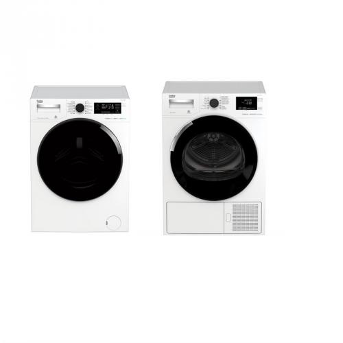 Set (Pračka Beko WTV 8744 CSXWADST) + (Sušička prádla Beko DH 8544 CSFRX)