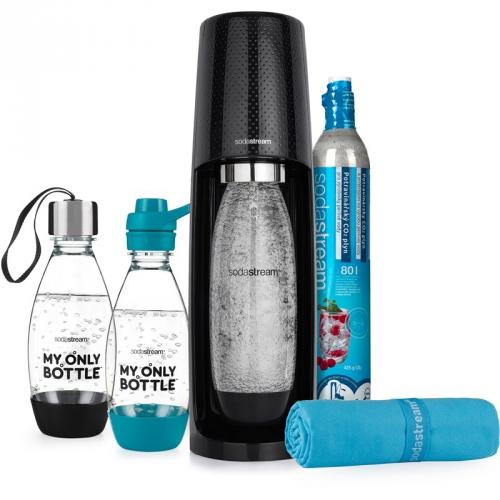Výrobník sodové vody SodaStream Spirit Město & Trénink černý