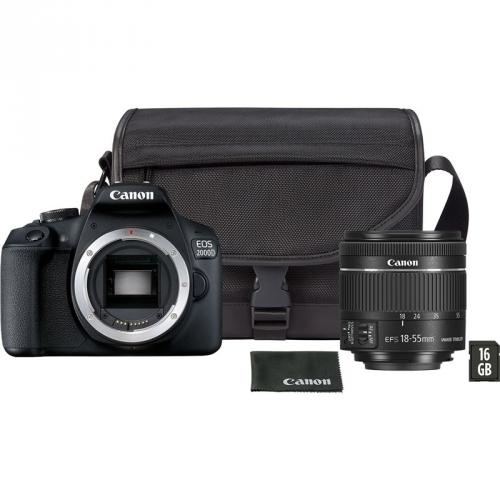 Digitální fotoaparát Canon EOS 2000D + 18-55 mm DC + VUK černý + dárek