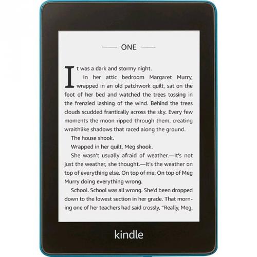 Čtečka e-knih Amazon Kindle Paperwhite 4 2018 s reklamou modrá