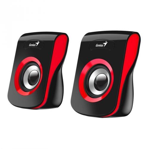 Reproduktory Genius SP-Q180 černé/červené