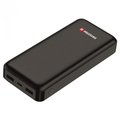 Powerbank Swissten Worx 20000mAh, USB-C černá