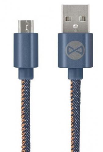 Kabel Forever USB/ Micro USB, 1m modrý