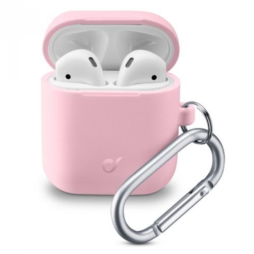 Pouzdro CellularLine Bounce pro Apple AirPods (2018/2019) růžové