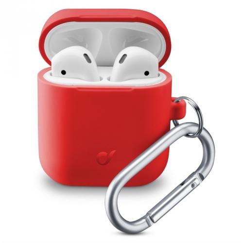 Pouzdro CellularLine Bounce pro Apple AirPods (2018/2019) červené