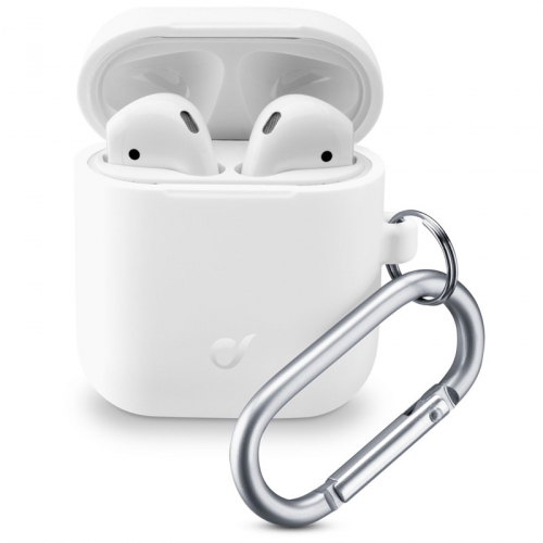 Pouzdro CellularLine Bounce pro Apple AirPods (2018/2019) bílé