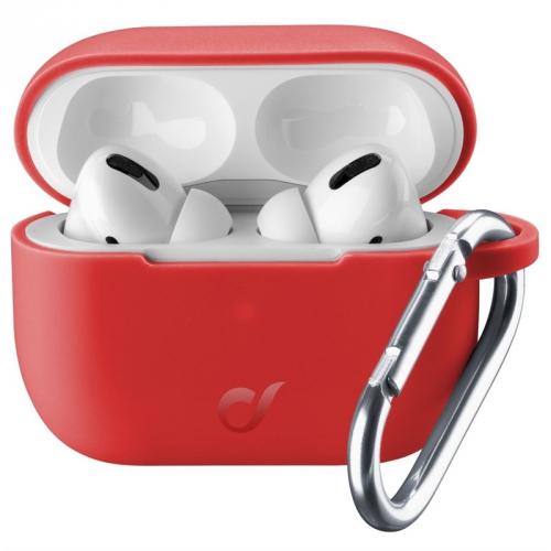Pouzdro CellularLine Bounce pro Apple AirPods Pro červené